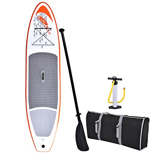 Blue Wave Sports Stingray Inflatable Stand Up Paddleboard with Hand Pump, 11-Feet