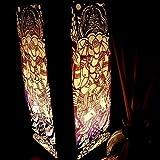 heat lamp for sugar art - NAVA CHIANGMAI Handmade Ganesha India Hindu Purple Handmade Asian Oriental Wood Light Night Lamp Shade Table Desk Art Gift Home Vintage Bedroom Bedside Garden Living Room