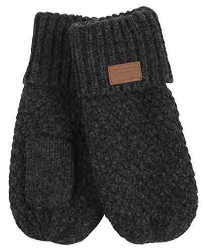 Melton Unisex Baby Lamb Wool Mittens, Dark Grey, 2-3Y ()