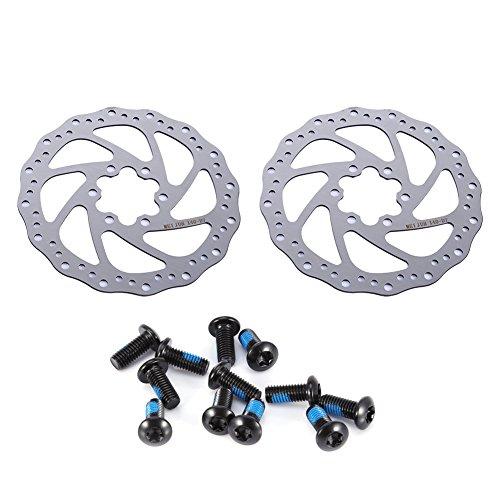Pangding Disc Brake Rotor, 2Pcs Cycling Disc Brakes Mountain 6 Holes 180 160 140mm Bicycle Brake - Front Disc 185mm Brake
