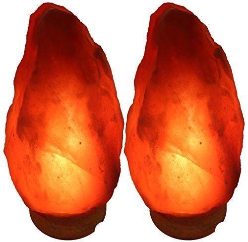 Indusclassic Set Of 2 Himalayan Salt Lamp Natural Crystal Rock Ionizer Air Purifier (6-7 INCH)