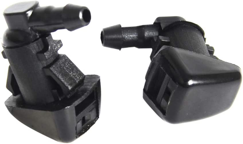 2 pack Cheriezing Front Windshield Washer Nozzles Wiper Spray Kit Single Hole for 2008-2010 Ford F250 F350 F450 F550 Super Duty Replace# 7C3Z17603A