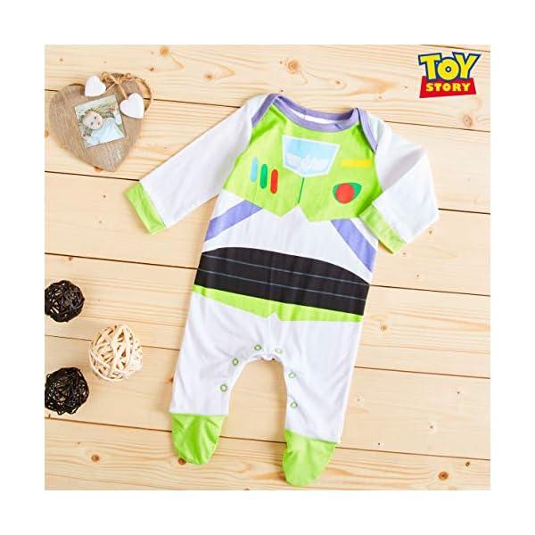 Disney Toy Story Tutine Neonato Buzz Lightyear, Pigiama Intero Bambino, Tutina per Neonati in Puro Cotone, Abbigliamento… 5