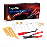 Anyoneer [14 Pcs] Clip Plier Set & Fastener Remover - The Most Essential Combo Repair Kit