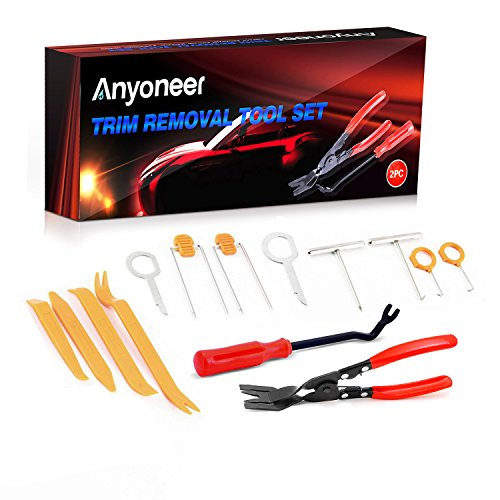 Clip Remover - Anyoneer [14 Pcs] Clip Plier Set & Fastener Remover - The Most Essential Combo Repair Kit