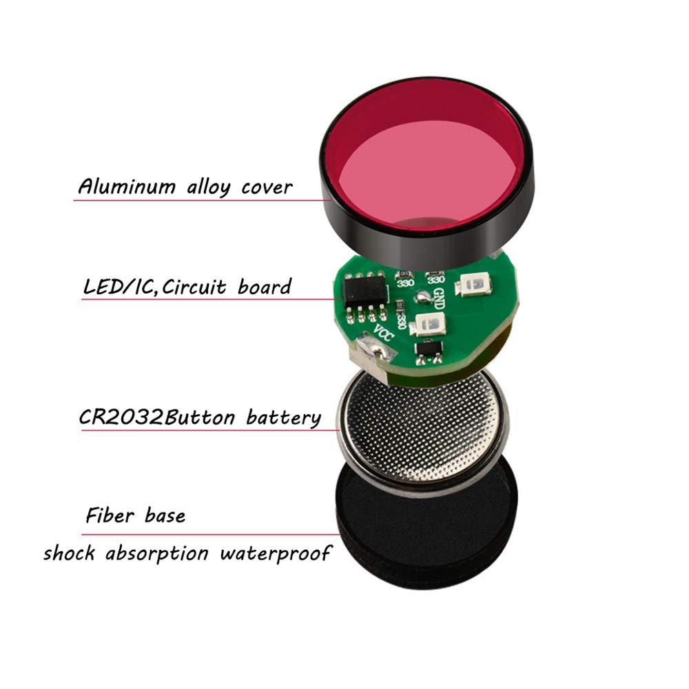 Konesky Luz de Advertencia de la Puerta del Coche Rojo Paquete de 4 Luces LED de Seguridad Luz LED de Seguridad Impermeable Bombillas anticolisi/ón L/ámpara autoadherida Auto Apagado