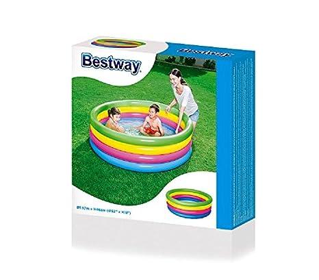 51117 Piscina inflable de arcoiris Bestway 4 anillos 157 x 46 cm ...