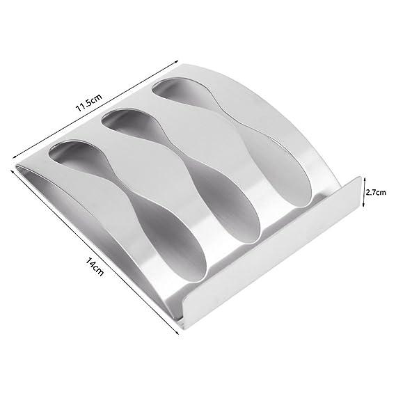 Cepillo de dientes soporte autoadhesivo pared seguro y estable de precisión Plating plata dibujar 3 almacenamiento rack: Amazon.es: Hogar