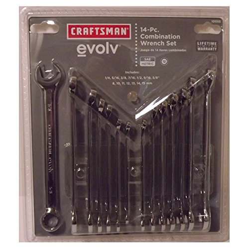 Combination Wrench Set 14 Piece (Craftsman Evolv 14 piece Combination Wrench Set SAE Metric)