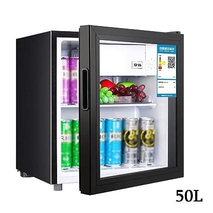 Amazon.es: WYJW Refrigerador portátil de 50 l Hogar Mini Vidrio ...