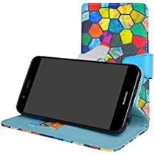 Huawei Nova 2 Case,Mama Mouth [Stand View] Premium PU Leather [Wallet Case] With Card Slots Cover For Huawei Nova 2 Smartphone,Stained Glass