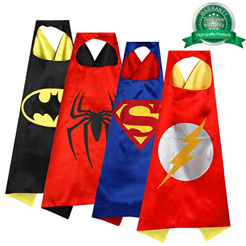 Cartoon Dress Up Satin Capes and Felt Masks Costumes Set Children Super Hero Halloween Parties Kids (Best Halloween Costumes 3 Year Old Boy)