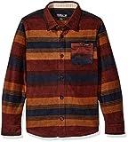 O'Neill Boys' Glacier Stripe Long Sleeve, Brick, Large