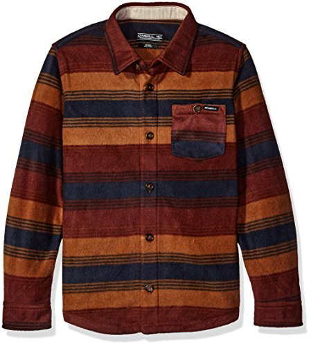 O'Neill Boys' Glacier Stripe Long Sleeve, Brick, Large by O'Neill