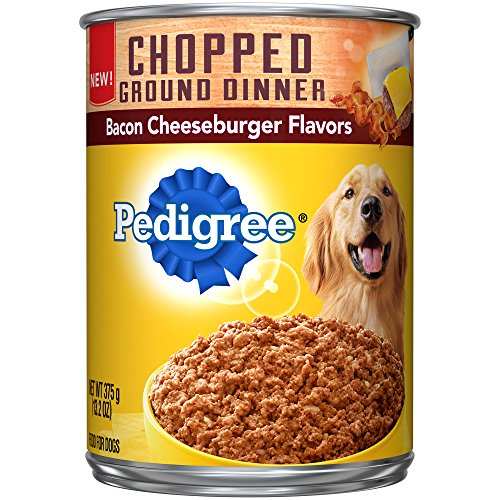 Pedigree Chopped Ground Dinner Bacon Cheeseburger Flavors Ad