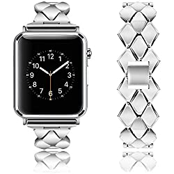 Rockvee Apple Watch Band, Stainless Steel Iwatch Band Replacement Strap For Apple Watch Series 3 Series 2 Series 1 Nike+ Sport Edition - 38mm & 42mm (1-pack Silver, 38mm)