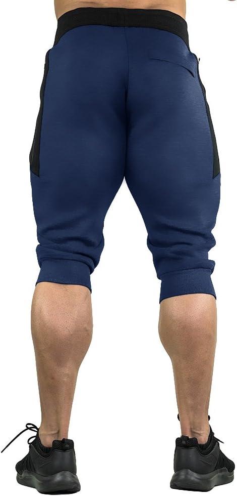 3 4 Eklentson Pantalones Cortos Con Cremallera Tres Cuartos Pantalones De Entrenamiento Para Hombre Pantalones Y Pantalones Cortos Deportes Y Aire Libre