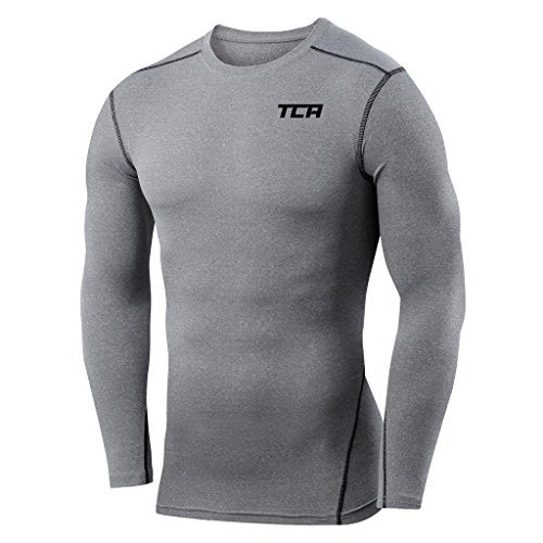 Boys TCA Pro Performance Compression Base Layer Long Sleeve Thermal Top - Grey, (Gray Thermal Long Sleeve Shirt)