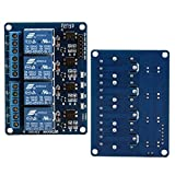 Foxnovo 4-Channel DC 5V Safety Relay Shield Module Board with Optocoupler for Arduino DSP AVR PIC ARM TTL Logic