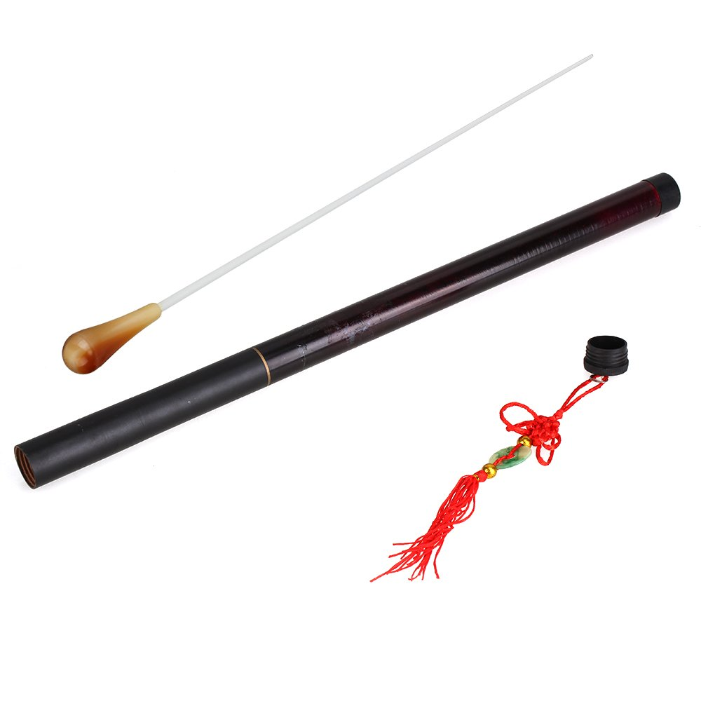 WEONE 2pcs 14.76 Imitation Agate Handle Brown Fiberglass Music Conductor Batons Orchestra Baton For Music Teacher JS-10110146 WEONE-10110146