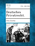 Deutsches Privatrecht, Otto Gierke, 1289359016