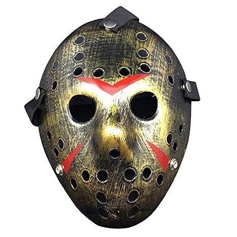Macxy - Viernes Jason contra el Horror de Hockey 13 de Cosplay de Halloween del Asesino de la máscara máscara de Halloween [C 2PC]: Amazon.es: Deportes y ...