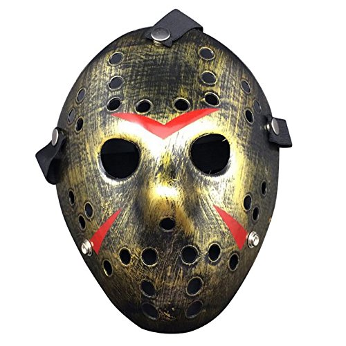 Masquerade Masque - Party Cosplay Vintage Halloween Masks Jason Freddy Hockey Mask Delicated Thick Pvc Costume - Jason Halloween Masks Women Masquerade Vintage Masque Mask -