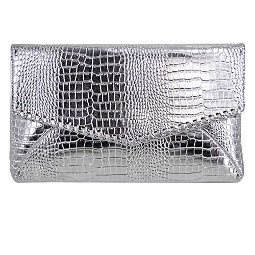Clutch Shaped Handle Women Crocodile Envelope Shoulder Party Bag Handbag Evening Sliver Print Bag Millya Top xRXF8wqq