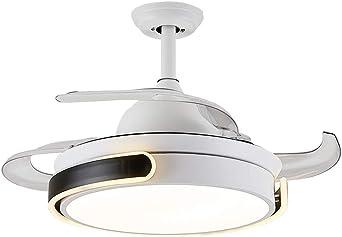 Aspa de ventilador de ABS retráctil de 36 pulgadas con ventilador retráctil/silencio LED luz del ventilador de dormitorio regulable/iluminación interior/lámpara de control remoto para ventilador: Amazon.es: Iluminación
