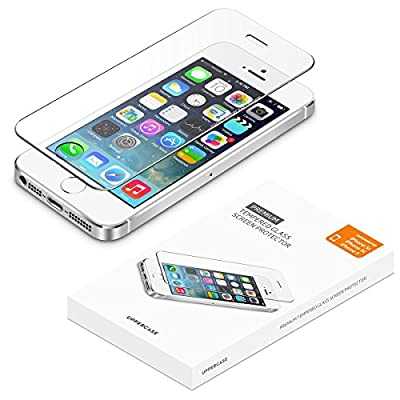 iPhone 5 5S SE screen protector, UPPERCASE Premium Tempered Glass Screen Protector for iPhone 5s, iPhone 5, iPhone 5c, iPhone SE
