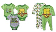 Nickelodeon Teenage Mutant Ninja Turtles 5 Pack Bodysuits & Coveralls