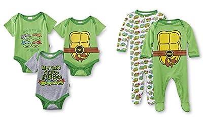 Nickelodeon Teenage Mutant Ninja Turtles 5 Pack Bodysuits & Coveralls