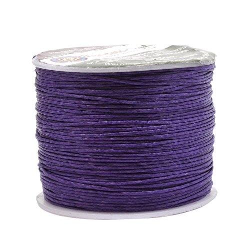 Mandala Crafts 0.5mm 109 Yards Jewelry Making Crafting Beading Macramé Waxed Cotton Cord Thread (Purple)