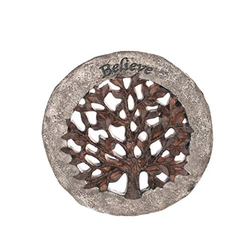 (Topadorn Memorial Garden Stepping Resin Stone with a Tree of Life,Decorative Stones for Your Garden or Lawn)