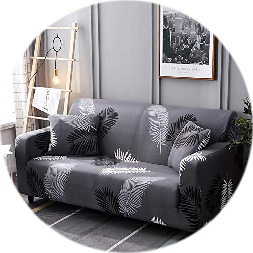 Elastic Stretch Sectional Cover Wrap All-Inclusive Sofa Cover for Living Room Couch Cover L Shape Loveseat Single/Two/Three seat,Color 9,Cushion Cover 2pcs ()
