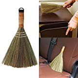Traditional Wooden Straw Corn Broom, Nature Archaize Soft Handmade Broom for Sweeping Broom Sofa, Car, Corner