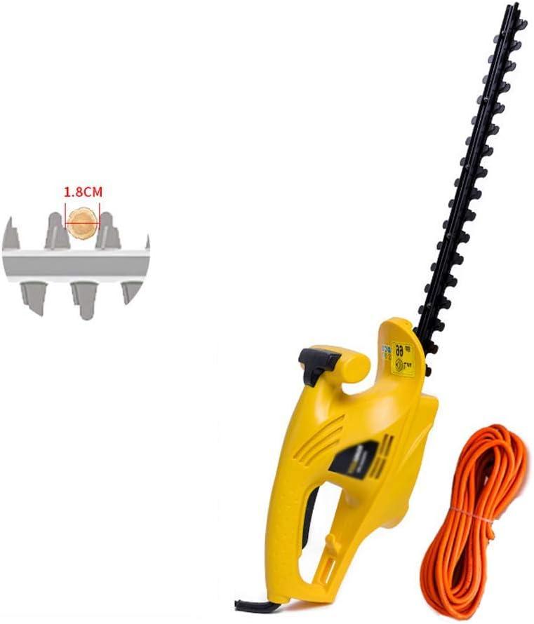 1yess Tijeras Cortasetos (Hoja de Cubierta, de 450 mm Longitud de la Cuchilla, Corte de 18 mm de diámetro) Cortasetos eléctrico Jardín poda máquina eléctrica Size : Type A 550W (30m Power Cord)