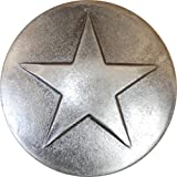 100 Old Silver Small Star Upholstery Framing Tacks, Decorative Nails 5/8 Dia Long, Western Texas