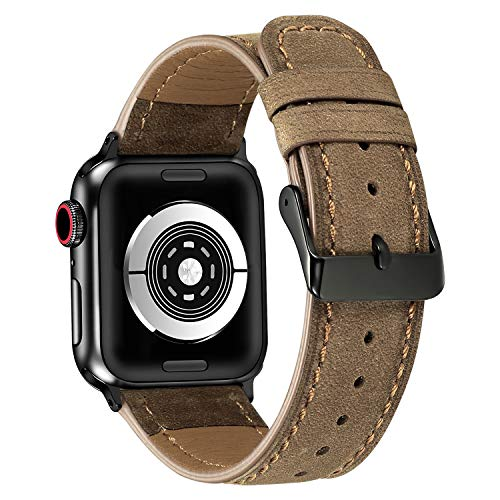 Watch Bands Compatible with Apple Watch Straps 38mm 40mm,Men/Women Genuine Leather Comfortable Strap Compatible with Apple Watch Series ()