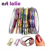 Generic 30Pcs Mixed Colors Rolls Striping Tape Line DIY Nail Art Tips Decoration Sticker