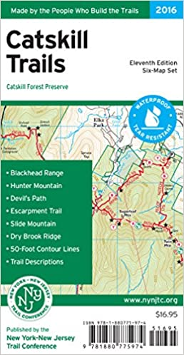catskill trails map new york new jersey trail conference 9781880775974 amazoncom books