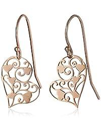 Sterling Silver Heart Filigree Earrings