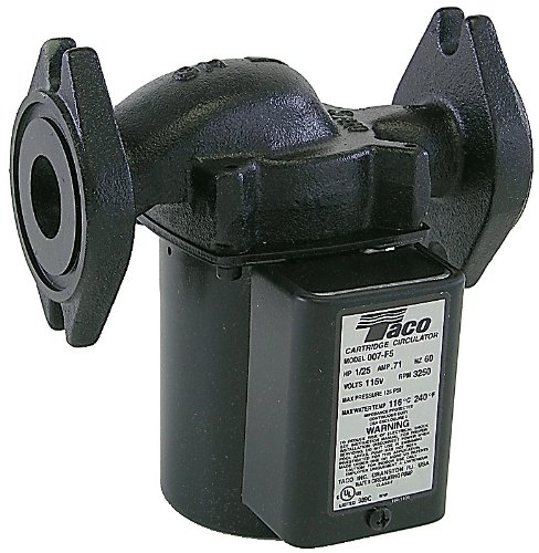taco 007 f5 00 cartridge circulator black 007 hf5 flanged taco 007 f5 00 cartridge circulator black 007 hf5 flanged flanges not included portable power water pumps amazon com