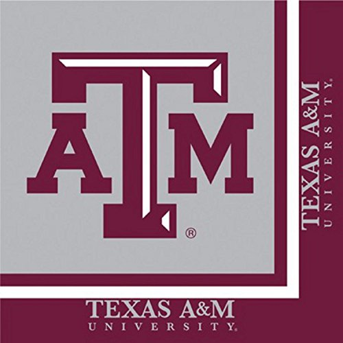 Lunch Aggies - Club Pack of 240 NCAA Texas A&M Aggies 2-Ply Tailgating Party Lunch Napkins