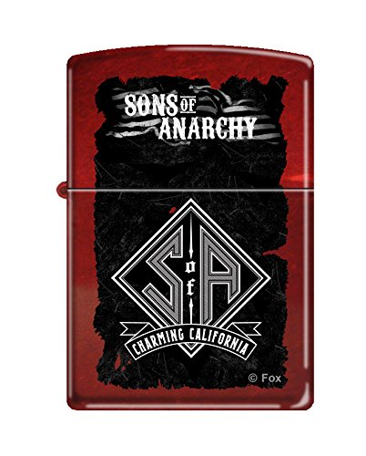 (Zippo Sons of Anarchy Design Candy Apple Red Pocket Lighter )