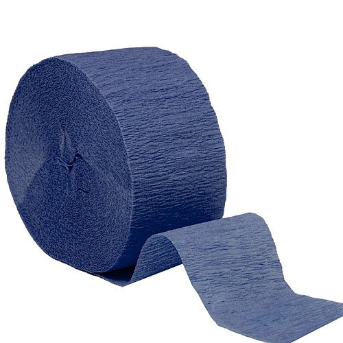 Crepe Streamers 2 Inches by 81 Foot Navy Blue Roll by Shindigz