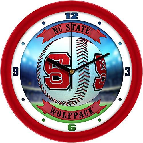(North Carolina State Wolfpack - Home Run Wall Clock)