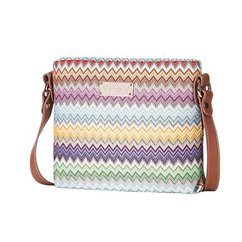 Cross AZT Bag with Purse Shoulder XB02 as Adjustable Pattern Signare body Strap Satchel Small also Rainbow Mini by qCxOtTXwXS