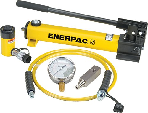 (Enerpac SCR-102H Single Acting Cylinder Pump Set RC-102 Cylinder with P-392 Hand Pump)