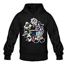YQUE Men's Undertale Video Game Role Hoodies Hooded Sweatshirt Size XXL Black